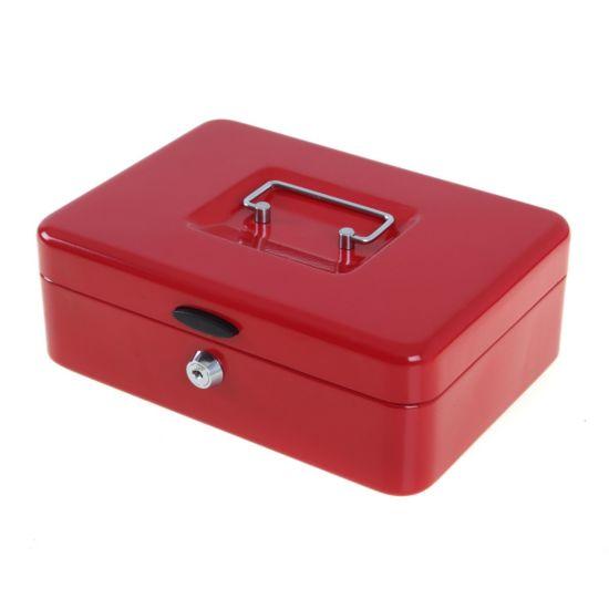 Ryman Button Release Cash Box H80xW240xD170mm Red