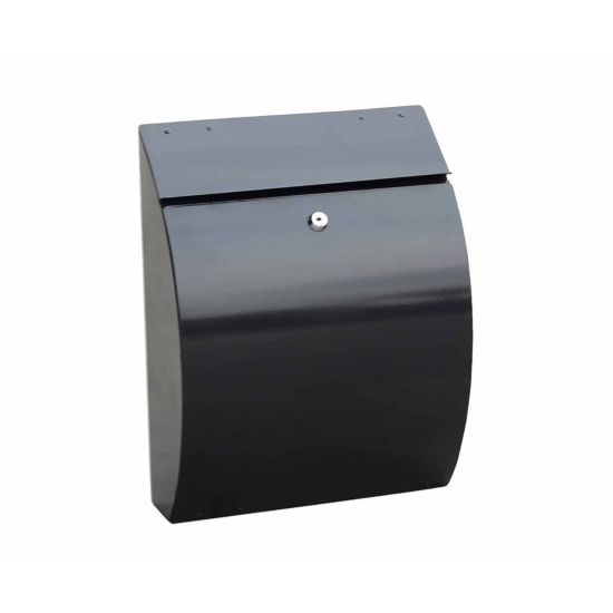 Phoenix Curvo Top Loading Mailbox with Key Lock Black