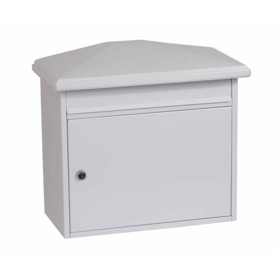 Phoenix Libro MB0115KB Front Loading Mailbox with Key Lock White