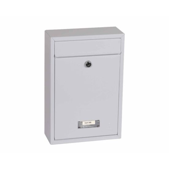 Phoenix Letra MB0116KB Front Loading Mailbox with Key Lock White
