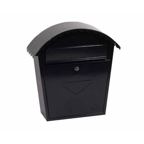 Phoenix Clasico MB0117KB Front Loading Mailbox with Key Lock Black
