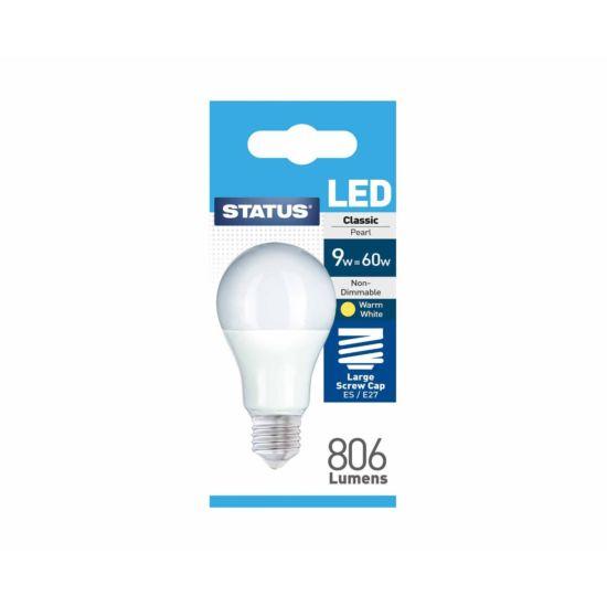 STATUS LED Bulb 9W/60W Large Edison Screw ES/E27