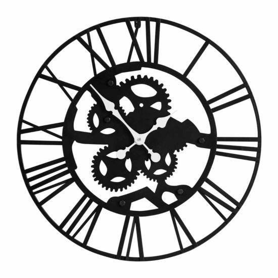Premier Housewares Iron Skeleton Wall Clock 60cm