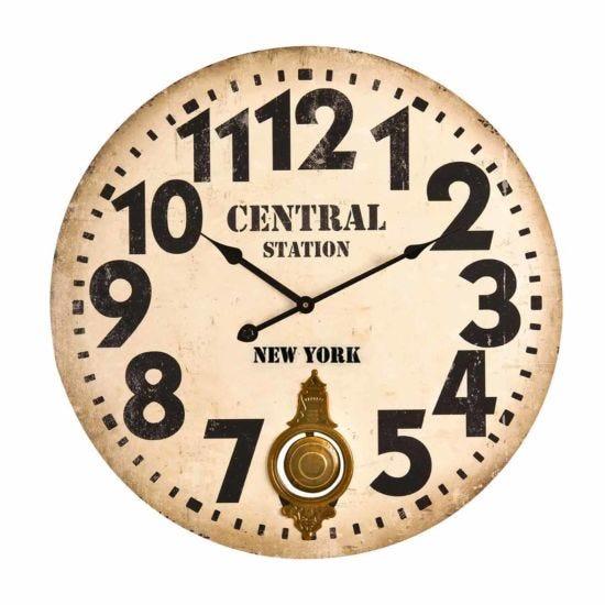 Premier Housewares Vintage Style Wall Clock 58cm