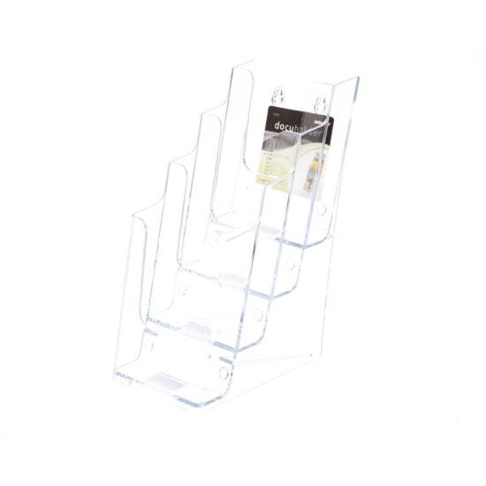 Deflecto 4 Tier Portrait Free Standing or Wall Mounted Leaflet Holder