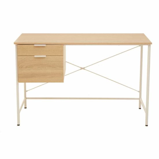 Interiors by PH Study Desk with Storage Natural