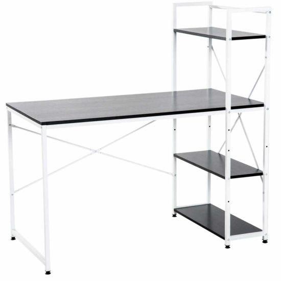 Channing Metal Frame Computer Desk with 4 Tier Bookshelf