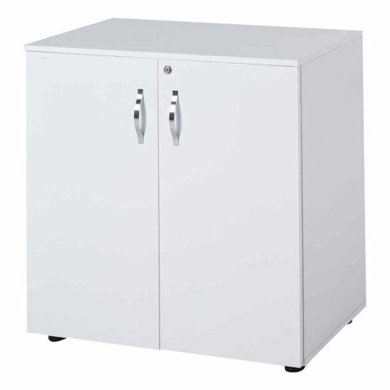 Melania 2-Tier Locking Office Storage Cabinet White