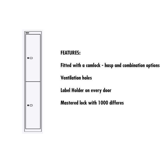 Bisley Universal Steel Locker 2 Door Extra Deep