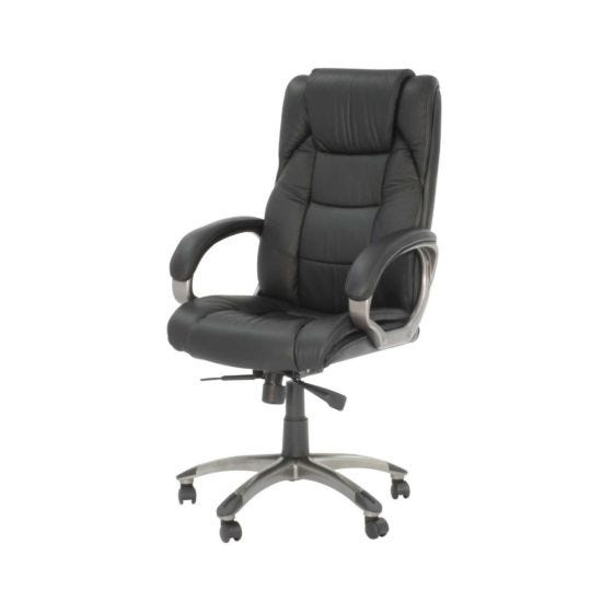 Northland Leather Faced High Back Executive Chair Black
