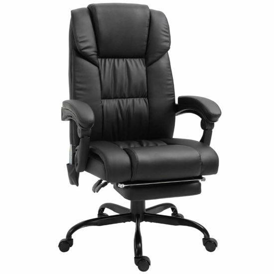 Harlock 6-Point PU Leather Massage Office Chair Black