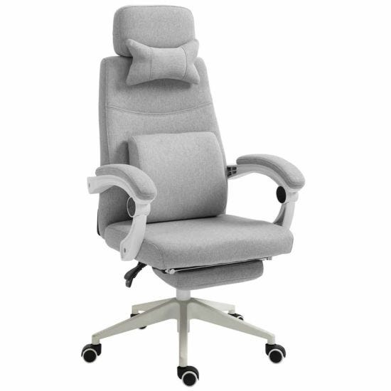 Mireille High-Back Recliner Chair with Manual Footrest
