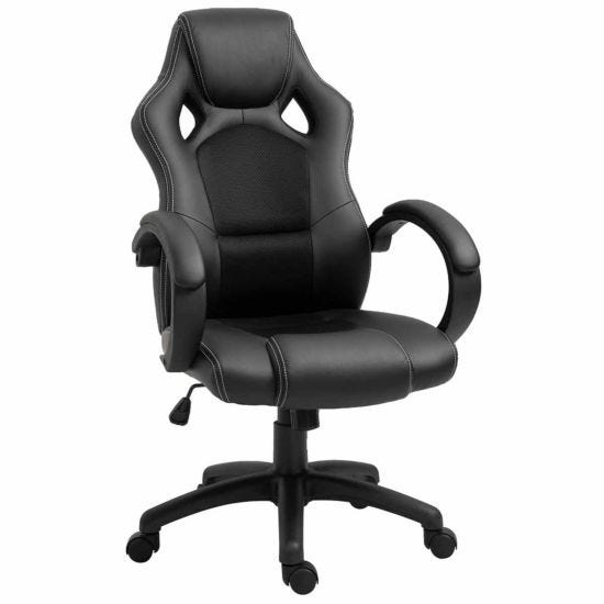 Virginia PU Racing Style Gaming Chair Black