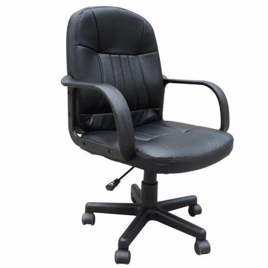 Loughty PU Leather Home Office Chair Black