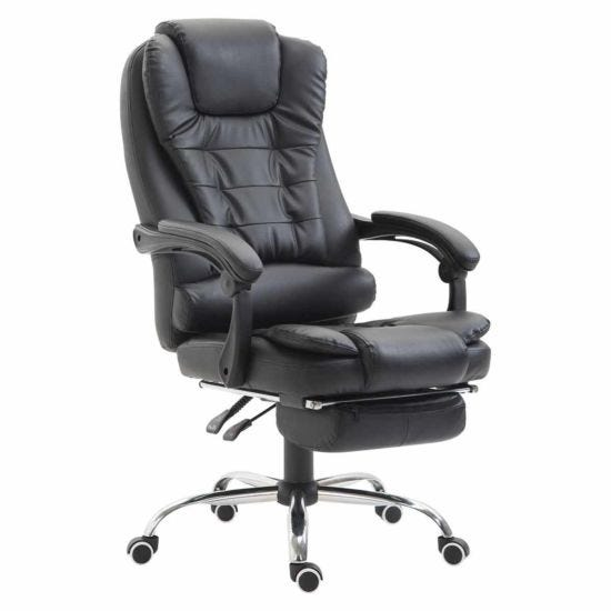 Quinn PU Leather Executive Chair Black