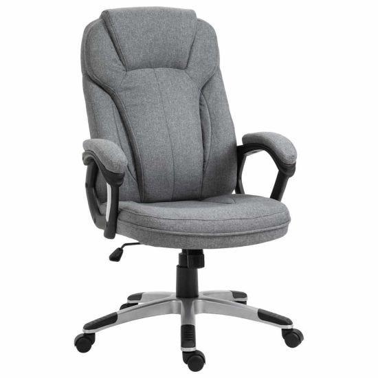 Sutton Linen Ergonomic Executive Chair