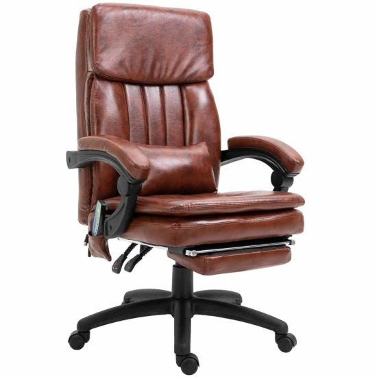 Emmens Vintage Deluxe Massage Executive Chair with Footrest
