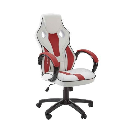 X Rocker Maverick Office Computer Gaming Chair White/Red