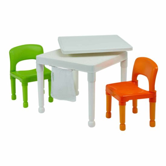 Liberty House Toys Multipurpose Activity Table Set with Storage Bag White