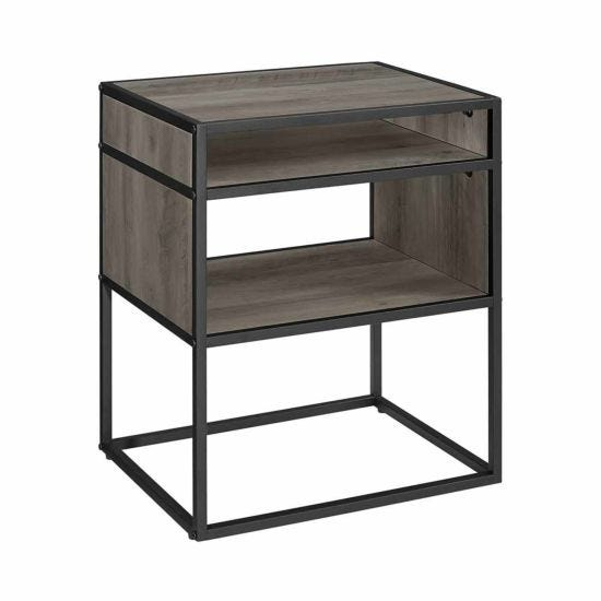 Colorado Open Shelf Side Table Grey