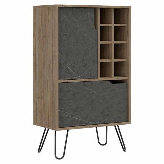 Manhattan Medium Bar Cabinet with Hairpin Legs