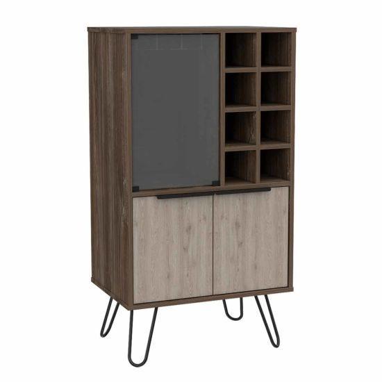 Nevada Medium Wine Cabinet with Hairpin Legs