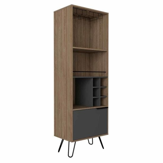Vegas Tall Drinks Cabinet with Hairpin Legs