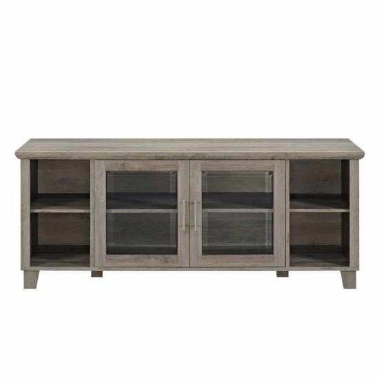 Brenna Columbus TV Stand with Glass Doors