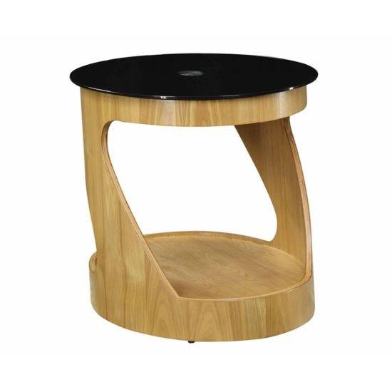 Jual San Marino Cut Out Lamp Table Oak