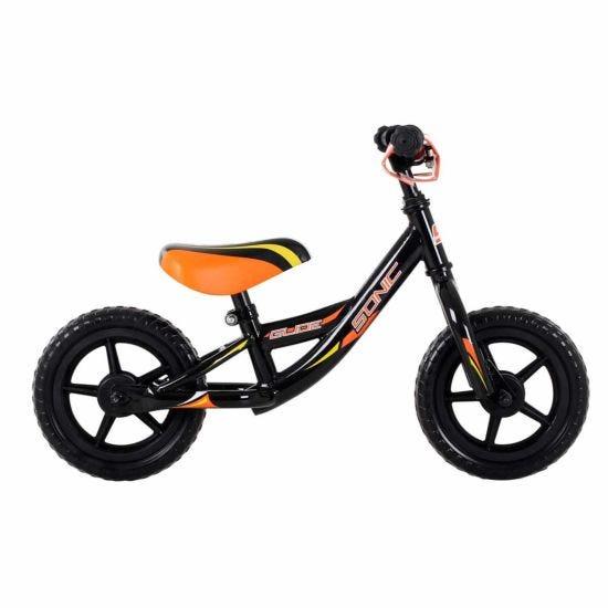 Sonic Glide Kids Balance Bike 10 Inch Wheel Black/Orange