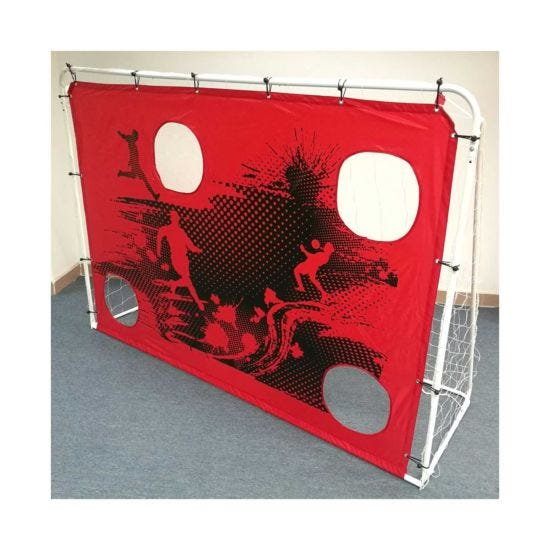 Charles Bentley 3-in-1 Target Shot 7ft x 5ft Football Goal and Net