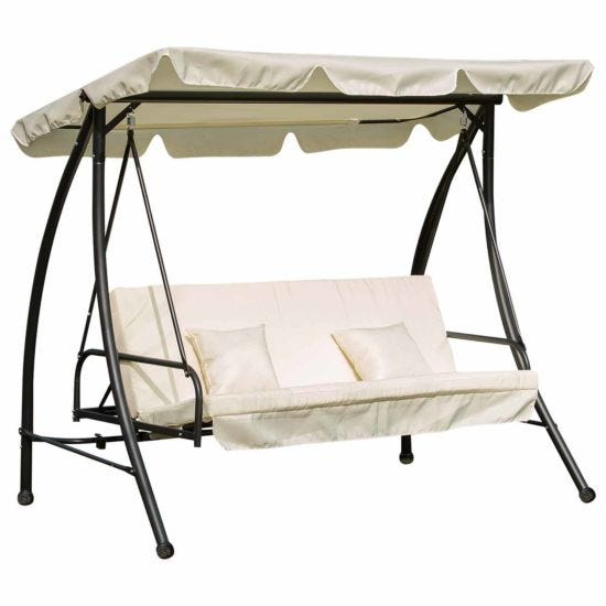 Alfresco 2-in-1 3 Seater Swing Seat with Canopy
