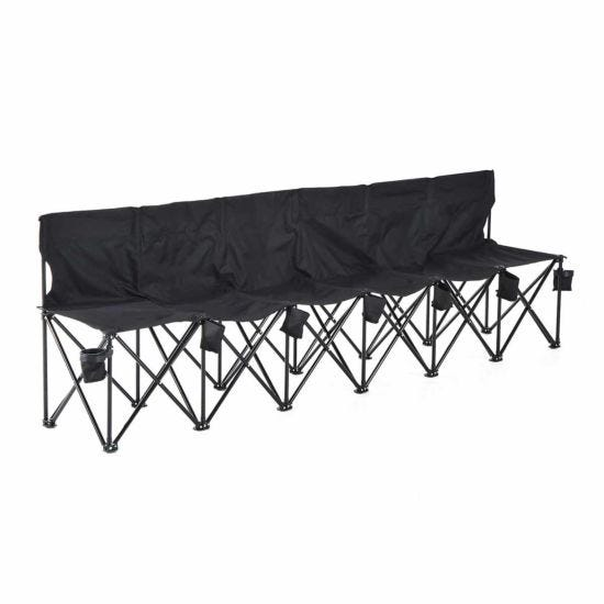 Alfresco 6 Seat Folding Camping Chair Black