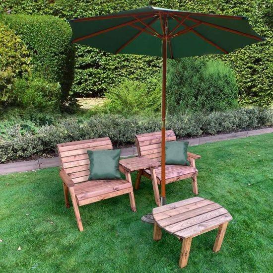 Charles Taylor Grand Straight Companion and Parasol Set Green