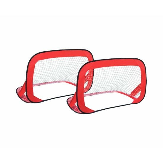 Charles Bentley Football Hockey Training Goals in Carry Bag Set of 2