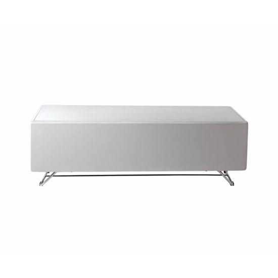 Alphason Chromium Concept 1200 TV Cabinet with Speaker Mesh Front White