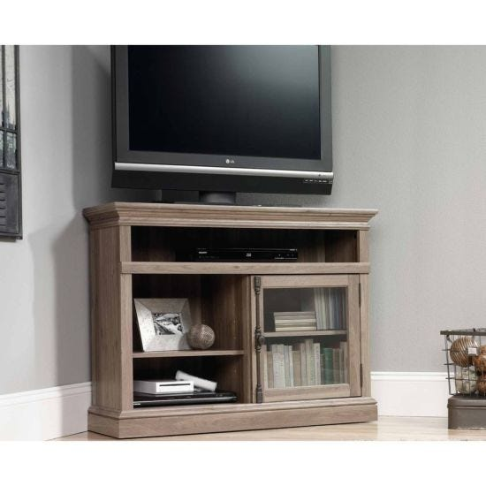 Teknik Barrister Salt Oak Finish Corner TV Stand