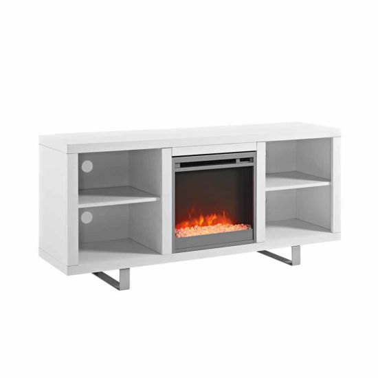 Oliva Modern TV Stand with Electric Fireplace