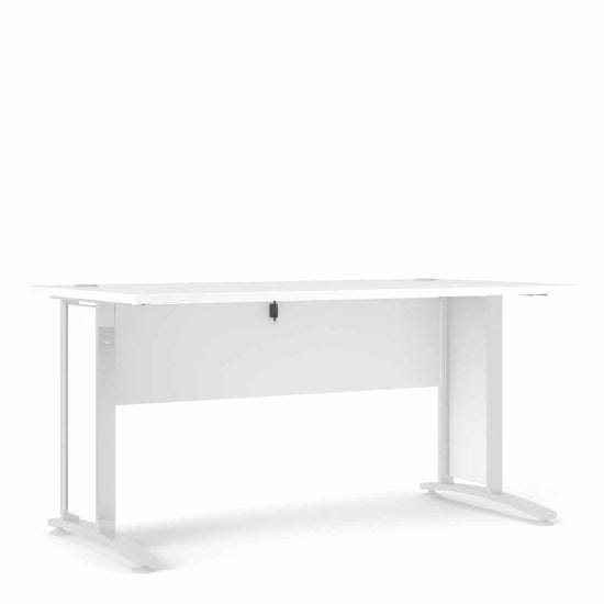 Prima Desk with White Legs 150cm White