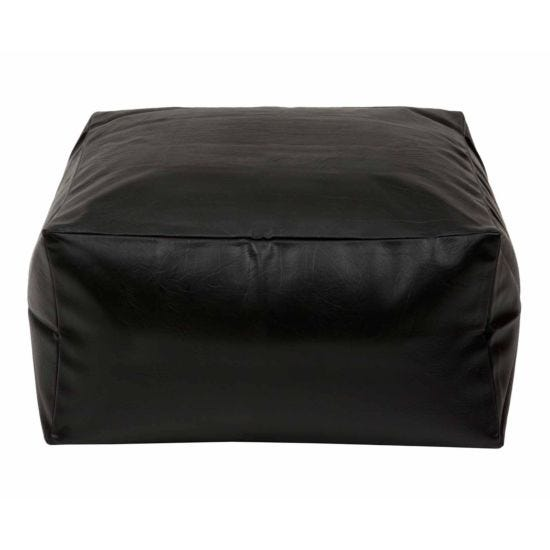 Kaikoo Square Slab Beanbag Black