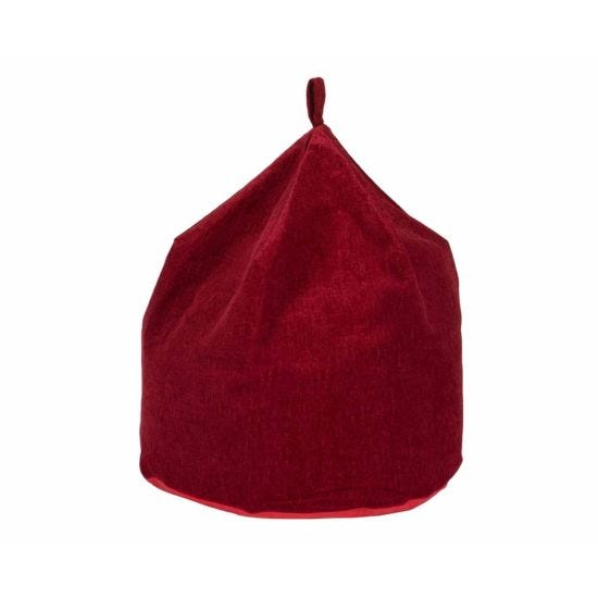 Kaikoo Chenille Beanbag Red