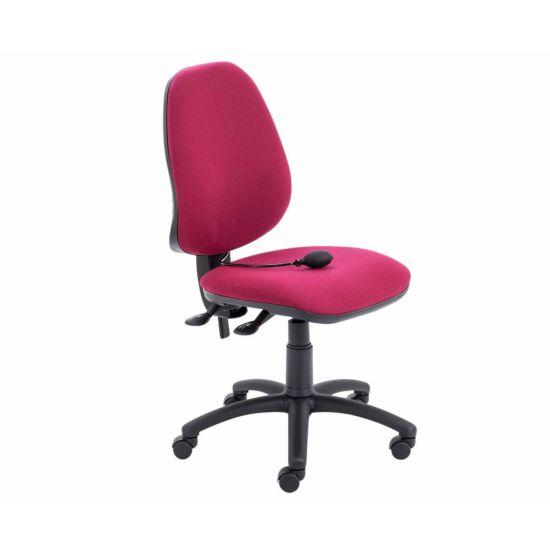 TC Office Calypso Twin Lever Ergonomic Chair with Lumbar Pump Claret
