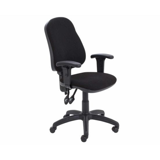 TC Office Calypso High Back Twin Lever Operator Chair with Height Adjustable Arms