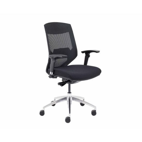 TC Office Vogue Mesh Back Task Chair with Chrome Base