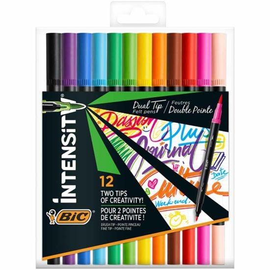 BiC Intensity Dual Tip Fibre Pens Pack of 12