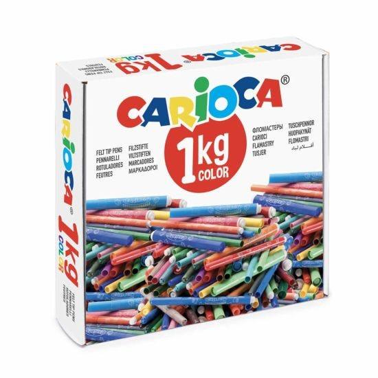 Carioca 1kg Box of Fibre Pens Assorted
