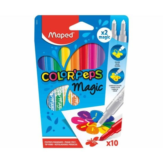 Maped Color Peps Magic Felt Tip Colouring Pens Pack of 10