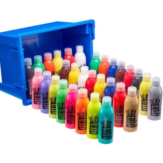 Ready Mixed Paint Assorted Paint in Tray 30 x 300ml