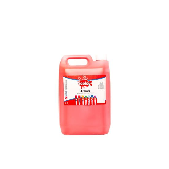 Artmix Ready mix Paint 5 Litre Red