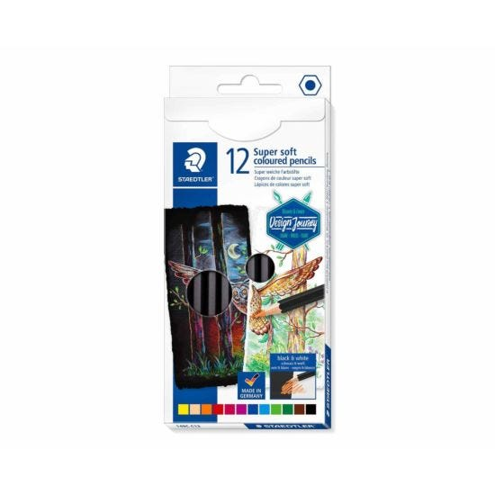 Staedtler Design Journey Super Soft Colouring Pencils Pack of 12